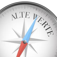 Kompass Alte Werte