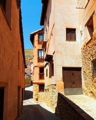 street of old town. Albarracin