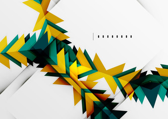 Futuristic geometric shapes, minimal design