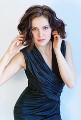 Portrait of a girl in black dress