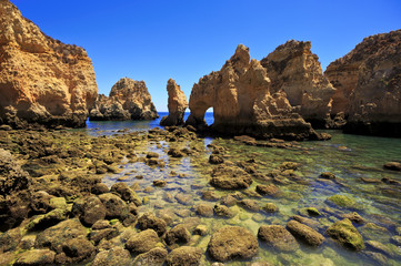 Cliffs in Ponta da Piedade near Lagos, Algarve, Portugal