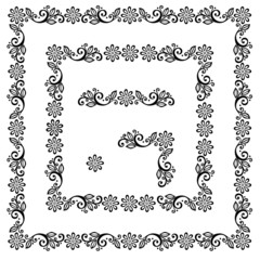 Decorative Floral Frame, Ornament (Vector). Decorative Corner