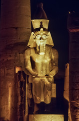 Egypt, Luxor, Luxor temple at night  (1991 BC) - FILM SCAN