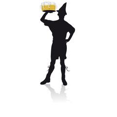 Oktoberfest beer waiter