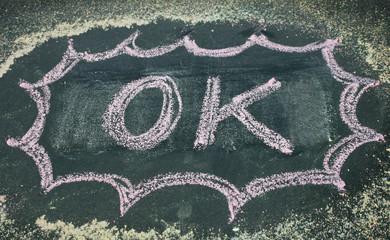 the word ok