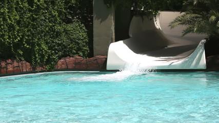 Water Park, Friends, girls, aqua park having fun.