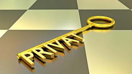 Privat Schlüssel