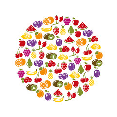 fruit icons in circle