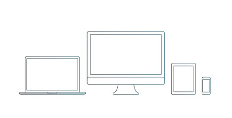 Monitor, tablet, smartphone, notebook