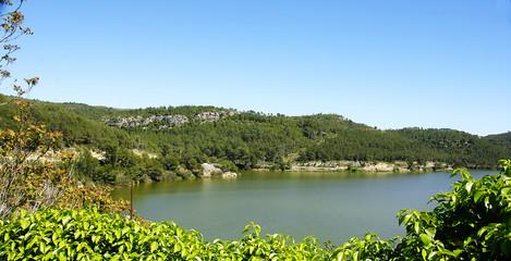 Panorámica del pantano de Foix, Castellet i la Gornal, Barcelona