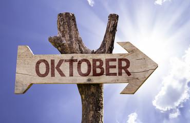 """Oktober"" (In German: October) sign"