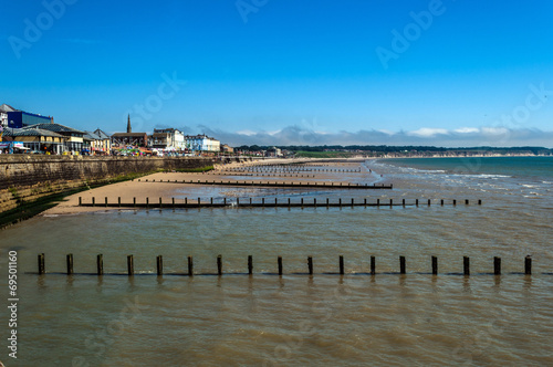 Leinwanddruck Bild English Seaside Resort