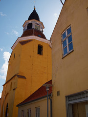 Bell tower in Faaborg Funen Denmark