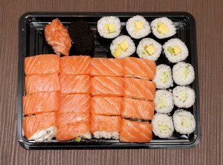 Sushi selection plate
