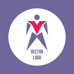 Abstract Vector Logo Template - Man Figure