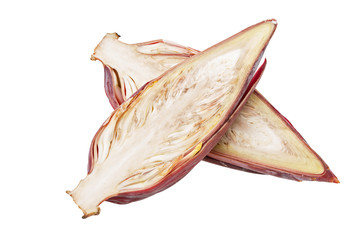 Banana blossom isolated on white