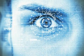 Modern, digital eye
