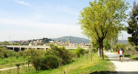 Sant Boi de Llobregat desde el Delta del Llobregat, Barcelona