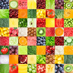 Healthy fresh fruits and vegetables