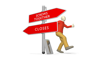 Screws Together / Closes