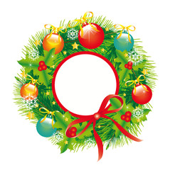 Christmas wreath;