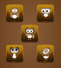 Owl expression icons