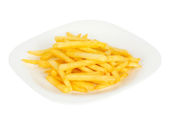 Pile of french fries in plate