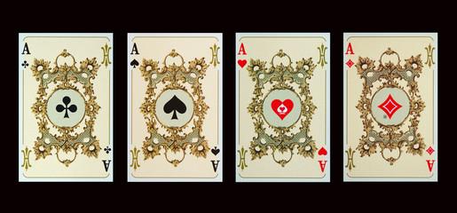 Spielkarten - ASSE der Kaiserzeit