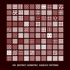 Big set of abstract geometric seamless patterns.