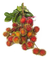 south american exotic fruits Lichas isolated