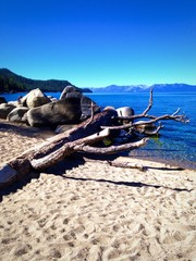 Beautiful shoreline of Lake Tahoe.