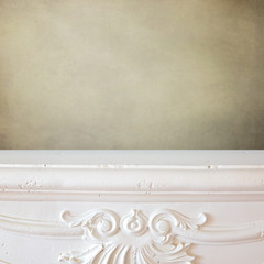 Fireplace shelf background for display montage of new product
