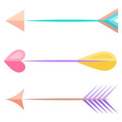 Bow arrows. Vector.