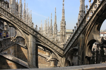 Duomo Cathedral pinnacles, Milan