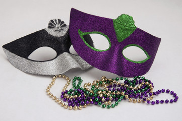 Masquerade Party Masks and Beads