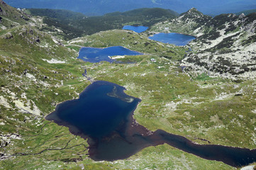 Aerial View of the Twin and Fish Lakes