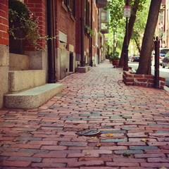 Street in Boston, Massachusetts, USA