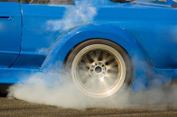 smoking wheels burnout