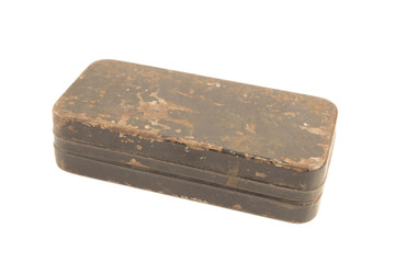 Antique rusty metal box