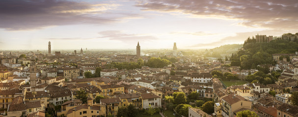 Panoramic view of Verona city