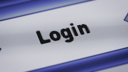 """Login"" on the screen. Looping."