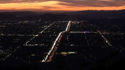 Simi Valley Sunset Time Lapse with Zoom
