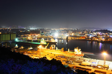 Incheon panoramic view over the city, South Korea