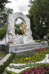 Statue of Johann Strauss in Vienna Stadtpark