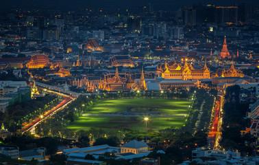 Grand palace at twilight in Bangkok