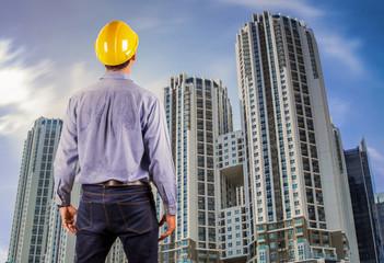 Asian construction engineer
