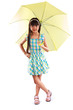 Little asian girl with umbrella
