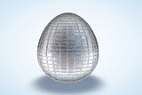 White Tile Etched Egg poster