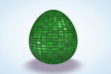 Green Tile Etched Dyed Egg poster