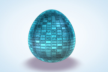 Baby Blue Tile Etched Dyed Egg
